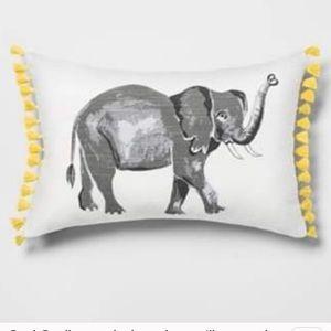 Opalhouse Elephant Tassel Throw Pillow